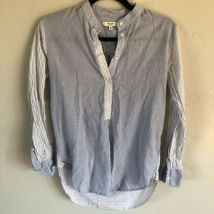 Madewell Wellspring Popover Tunic in Mixed Stripe